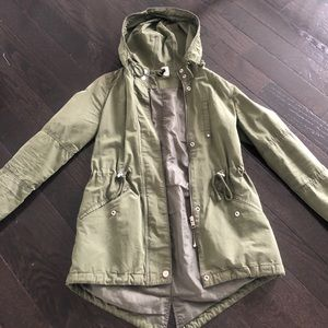 Green H&M utility style jacket